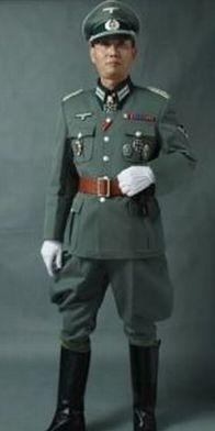 ナチス軍服SS、国防軍将校服、上下セット